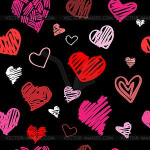 Liebe Muster Hintergrund - Vektor-Clipart