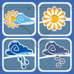 Wetter-Icons - Vektorgrafik