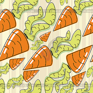 Möhre - nahtlose Muster - vektorisierte Abbildung