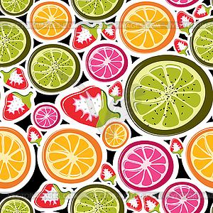 Nahtlose Hintergrund von Früchten - Vector Clip Art