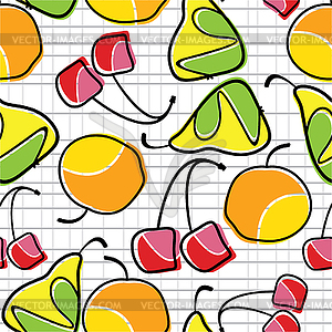 Bunten Obst nahtlose Muster - Vector-Clipart / Vektor-Bild