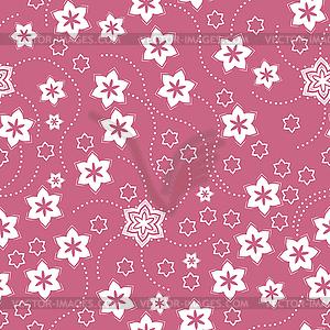 Blumen - nahtloses Muster - Vektor-Clipart