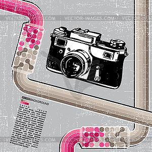Grunge Retro-Kamera - Vektorgrafik