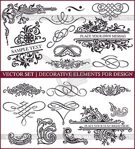 Kalligraphische Design-Elemente und Dekorationen - Vektorgrafik-Design
