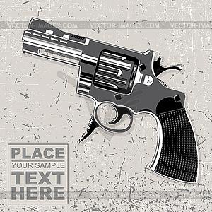 Die Waffe auf grunge Hintergrund - vektorisiertes Design