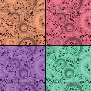 Satz von vier dekorativen nahtlose - Royalty-Free Vektor-Clipart