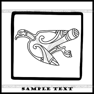 Celtic Adler - Stock Vektor-Clipart