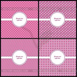 Rosa und beige-Schablone - Stock Vektorgrafik