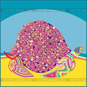 Landschildkröte am Strand - Vector-Clipart / Vektor-Bild