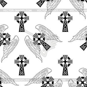 Nahtloser Hintergrund von Kreuzen - Vektor-Clipart EPS