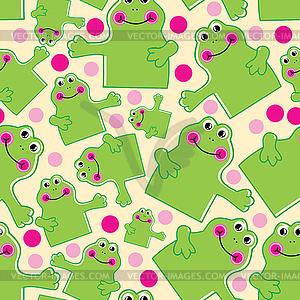 Netter nahtloser Hintergrund von Froschen - farbige Vektorgrafik