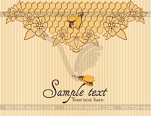 Hintergrund mit Bienen und Waben - Vector Clip Art