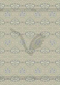 Orientalische Muster von gekrümmten Teilen auf beigem Hintergrund - farbige Vektorgrafik