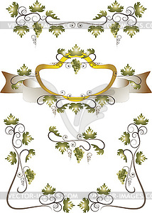 Gestell aus Weinblättern - Vektor-Clipart / Vektorgrafik