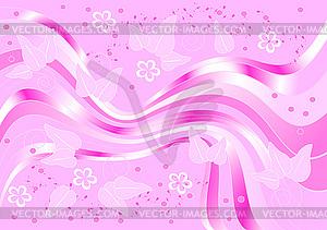 Muster auf violettem Hintergrund - vektorisierte Grafik