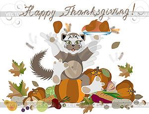 Happy Thanksgiving - Vector-Clipart / Vektor-Bild
