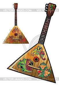 Russisches nationales Musik-Instrument - Balalaika - Vektor-Clipart EPS