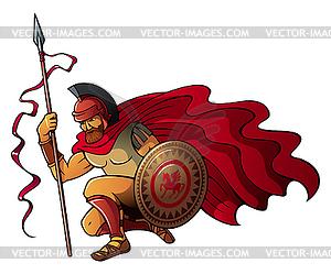 Griechische Krieger - vektorisiertes Design