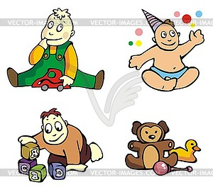 Kinder - Vector Clip Art