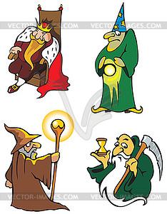 Fantasy-Charaktere - Vektorgrafik