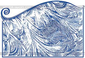 Frost Muster auf Fenster - Stock Vektor-Bild