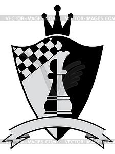 Schach-Kamm. - vektorisierte Abbildung