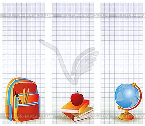 Set von Schul-Bannern - farbige Vektorgrafik