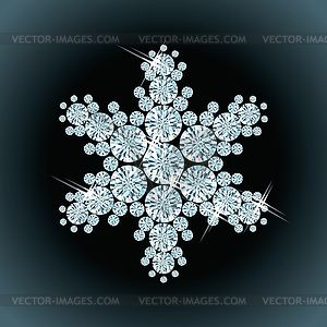 Schnee von Diamanten - Vektor-Clipart