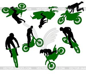 Stunt-Show auf einem Motorrad. - Vector-Design