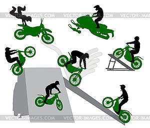 Silhouette von Stuntman. - Vector-Clipart / Vektor-Bild