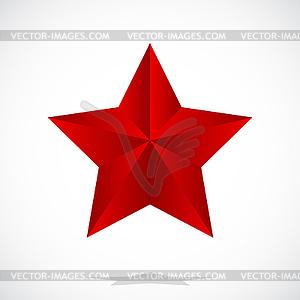 Roter Stern - Vektor-Clipart / Vektor-Bild