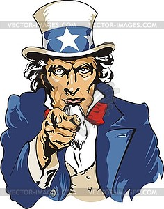 Uncle Sam - Vector-Clipart