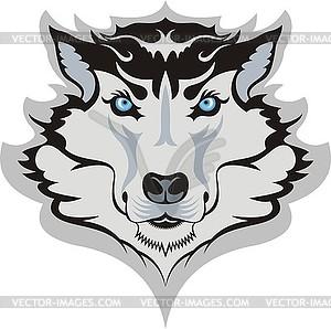Wolfskopf - Vektor-Clipart EPS