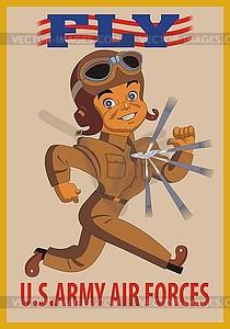 Fligen - Poster von US Air Force - Vektor-Abbildung