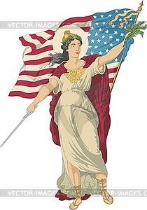 Freiheit bringt Gerechtigkeit und Frieden - Vector-Design