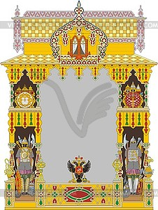 Russische kunstvollen dekorativen Rahmen mit Doppeladler - Vector-Design