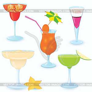 Cocktail-icon-set - Vektorgrafik-Design
