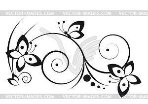 Vignette mit Schmetterlingen - Vektorabbildung