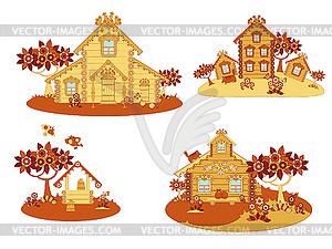 Wooden Landhäusern - Vector-Design