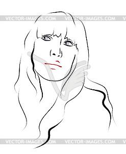 Лицо рисунок полной девушки