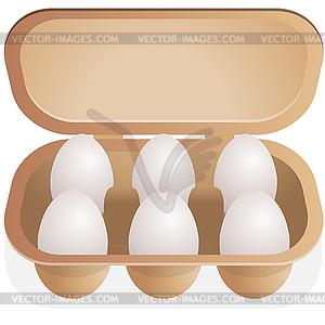 Eier im Behälter - Vector-Clipart EPS