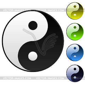 Hintergrund Yin-Yang-Symbol - Klipart