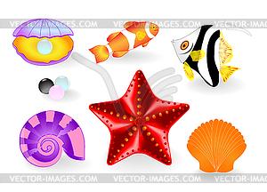 SOMMER Beach. Element für Design - Vector Clip Art