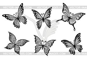 sch ne schmetterlinge insekten vektorisiertes clipart. Black Bedroom Furniture Sets. Home Design Ideas