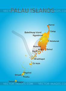 Palau Karte - Vektor-Clipart / Vektorgrafik