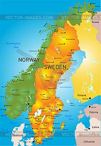 Schweden - vektorisiertes Clipart