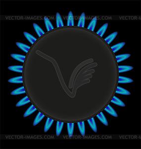 Brenngas-Plattenherd - Vector-Design