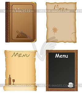 Дизайн меню