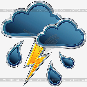 Wetter symbol mit sturm wetter vector clipart vektorgrafik