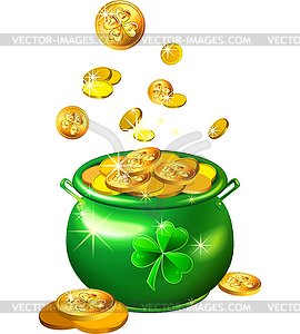 Green Pot Of Gold Clipart St  Patrick s Day green pot
